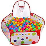 KUUQA Kids Ball Pit Ball Tent Toddler Ball Pit with Basketball Hoop and Zippered Storage Bag for Toddlers 4 Ft/120CM (Balls not Included)