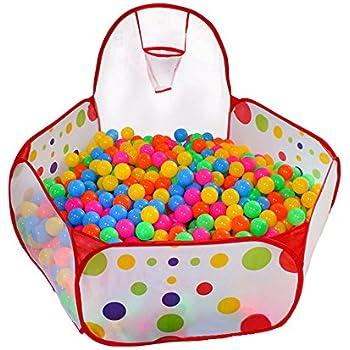 Kuuqa Kids Ball Pit Ball Tent Toddler Ball Pit With Basketball Hoop And  Zippered Storage Bag