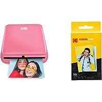 "Kodak Step Instant Photo Printer with Bluetooth/NFC, Zink Technology (Blue) with Kodak 2""x3"" Premium Zink Photo Paper…"