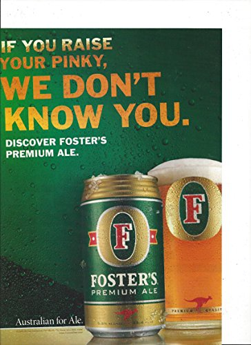 print-ad-for-fosters-lager-beer-raise-your-pinky-print-ad