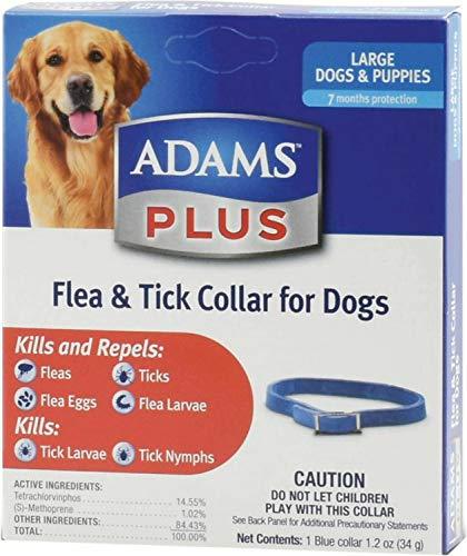 Adams Plus Flea & Tick Collar for Large Dogs, 6 - Adams Flea Collar