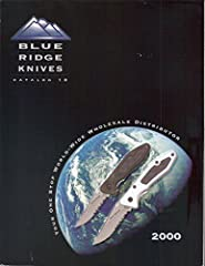 2000 Catalog with pricing. Brands featured: Colt-United-Case-Tomahawk-Spyderco-Frosts-Gerber-Boker-Kershaw-Shrade-Victorinox-Sog-Cold Steel-Columbia River-Smith & Wesson-Camillus-Beretta USA-Bear-Al Mar-Junglee-Linder-Marbles-Tramontina-R...