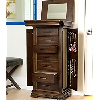 "Hives and Honey ""LANDRY"" Jewelry Armoire, Walnut"