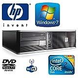 Desktop PC - HP dc7800 Small Form Factor (SFF) Wi-Fi (USB) Desktop PC - Powerful Intel Core 2 Duo 2.33GHz Processor - 250GB Hard Drive - 4GB Memory (RAM) - DVD MultiPlayer - Genuine Windows 7 License