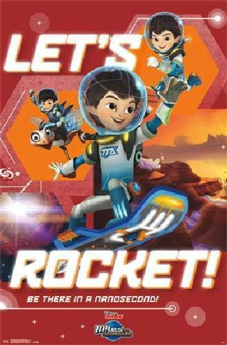 Miles from Tomorrowland Let's Rocket Art Print Poster by Trends International
