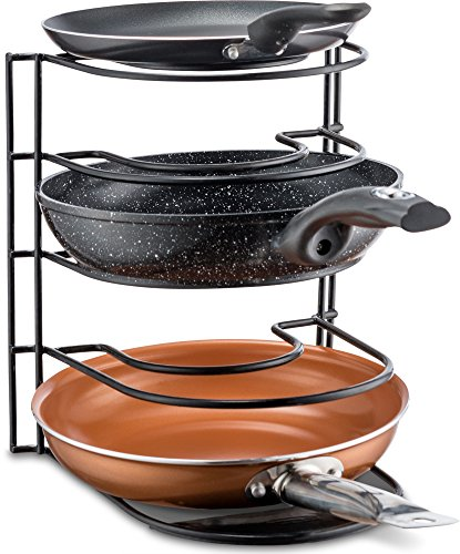 Pan Organizer Rack - Kitchen Closet Storage for Pots, Pans and Lids - Holds Up to 8 Items - Easy Screw or Adhesive Installation - by Bovado USA by Bovado USA (Image #3)