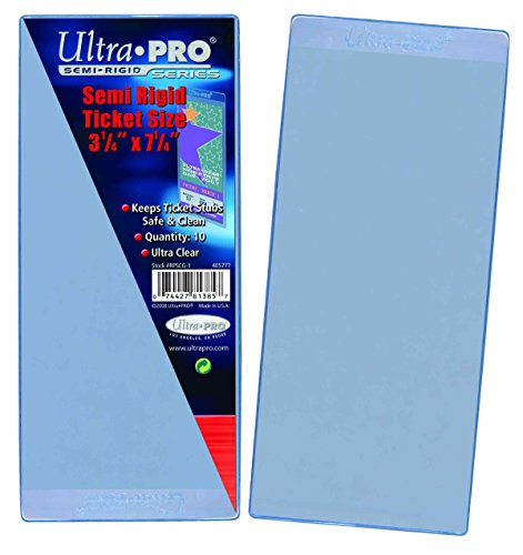 (Ultra Pro Semi Rigid Ticket Holders (50 Count Pack), Clear, 3-1/2