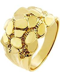 "Men's 14k Gold Nugget Ring ""The Block"""
