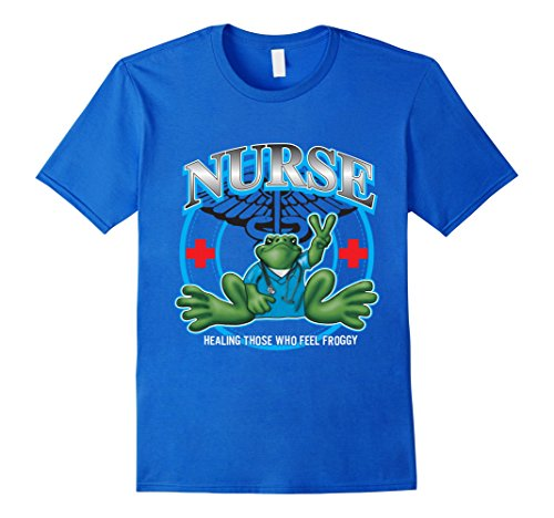 Men's Peace Frogs, Nurses who care for your health every day XL Royal Blue (Care Of Frogs)