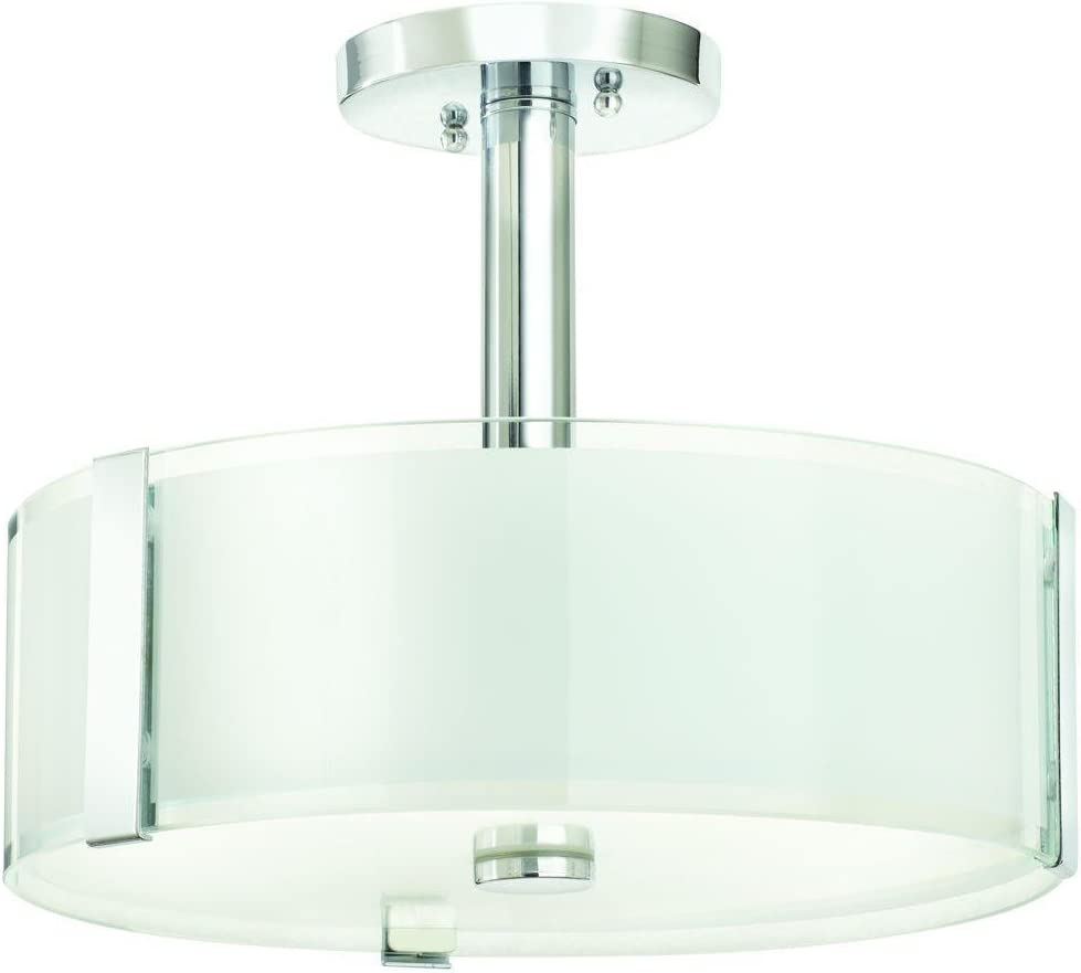 Home Decorators Collection 3-Light Polished Chrome Semi Flush Mount