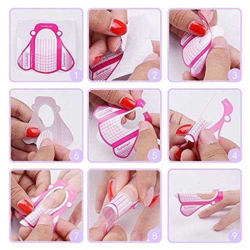 Moldes Guías Pegatinas Formas para manicura de uñas