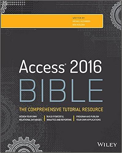 Amazon com: Access 2016 Bible eBook: Michael Alexander