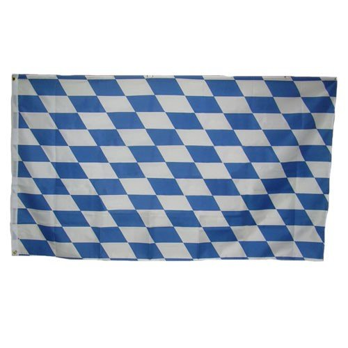 AES 5x8 ft Bavaria Bavarian Plain Flag Rough Tex Knitted 5'x8' Banner Fade Resistant Double Stitched Premium Quality