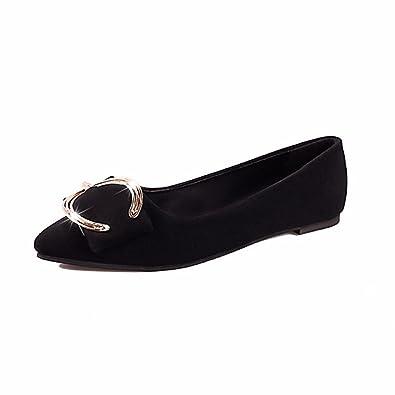 YUCH Damen Schuhe Komfort Hingewiesen Flache Unterseite Zuckererbsen Schuhe