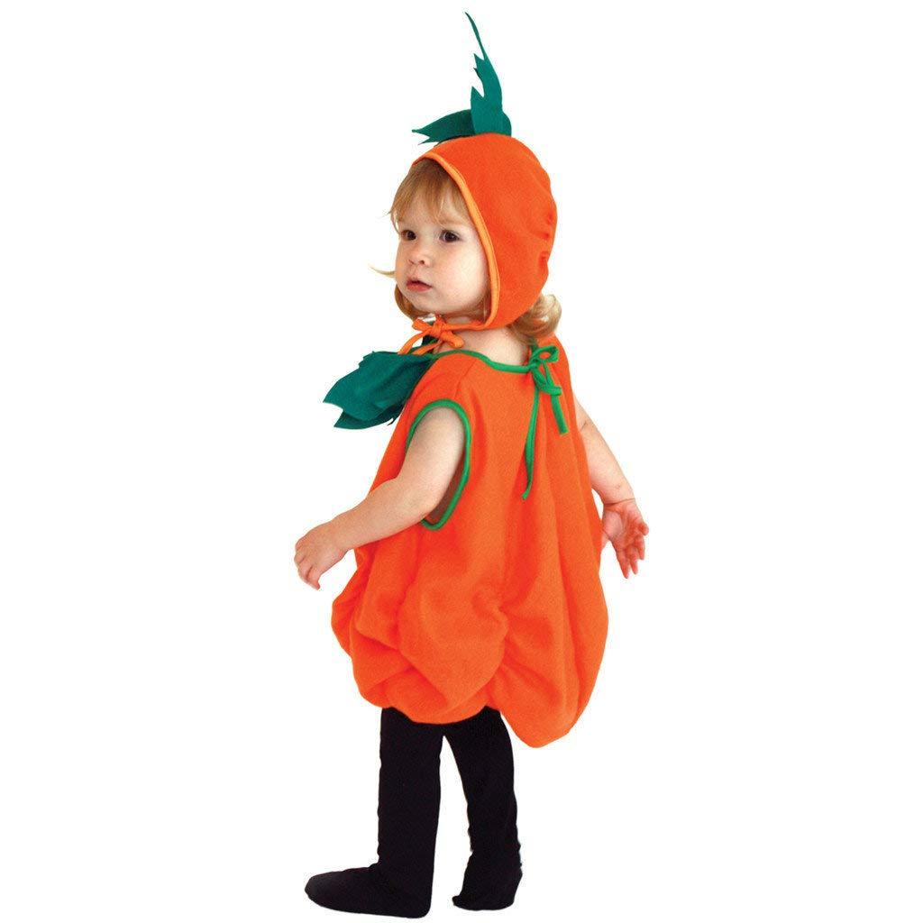 Pagliaccetto Cappello Halloween Zucca Stampato,Idee Regalo per Bambini Bambina Neonata Festa di Famiglia BaZhaHei Vestito Completo Bambino Ragazze Costume,2Pcs