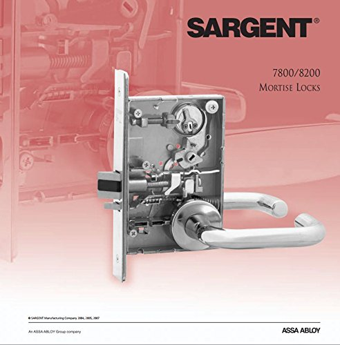 Sargent 8217-LNL-26D Institutional/Asylum Lever Lockset in Satin Chrome by Sargent