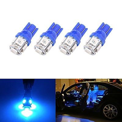 194 T10 W5W 5SMD 5050 Antline 12v LED Light Bulb Blue 2825 158 192 168 for Car/Motor Interior Dome Parking Side Turn Signal Dashboard License Number Plate Light Bulbs Lamp (pack of 4) : Automotive