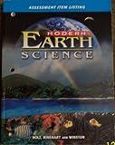 Modern Earth Science, Holt, Rinehart and Winston Staff, 0030643090