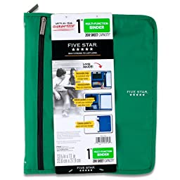 Five Star Customizable Binder with Removable Fixture, 1-Inch, Green (72981)