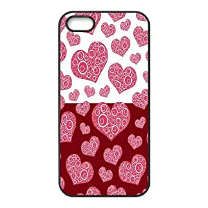 Vety Spiral Heart Pattern IPhone 5,5S Cases, {Black}