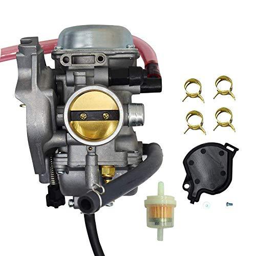 Carb Atv Parts (0470-448 Carburetor for Arctic Cat 250 300 2x4 4x4 ATV Carb 2001 2002 2003 2004 2005 Red Green)