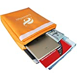 "Unionfull NON-ITCHY 15""x11""x2"" Fireproof Document Pounch with Zipper, Fire Resistant Envelope Bag"