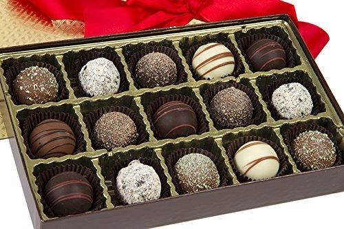 Signature Truffle Chocolate Box - Finest Chocolate Truffle Variety by Sugar Plum Chocolates (30 pieces)