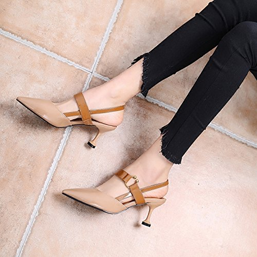 donne con parola di dei 34 vuoti Marrone pattini i indicato alti sandali delle ha bocca fibbia i multa poco tacchi Estate profondi RBB della EOqCYq