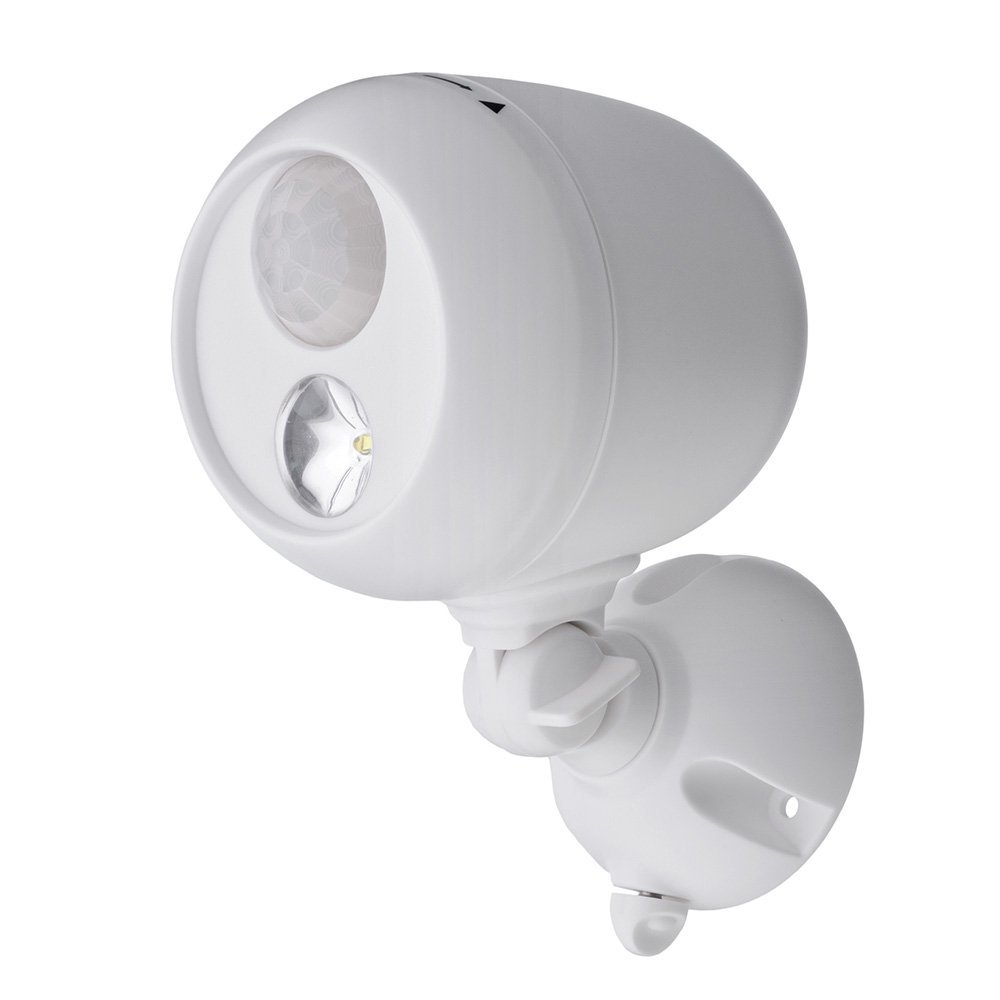 Mr. Beams MB330 Wireless LED Spotlight with Motion Sensor and Photocell, White by Mr. Beams