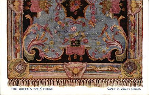 The Queen's Dolls' House Carpet in Queen's Bedroom Royalty UK Original Vintage Postcard from CardCow Vintage Postcards