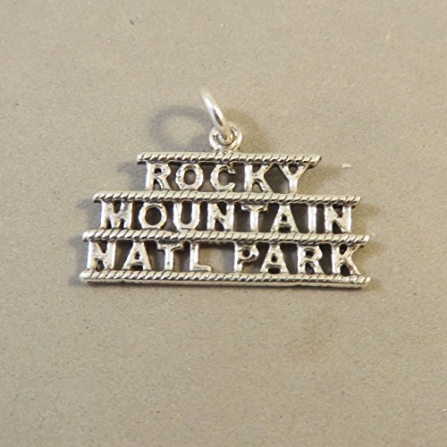 Sterling Silver ROCKY MOUNTAIN NATIONAL PARK Colorado CHARM NEW 925 NP26 Jewelry Making Supply Pendant Bracelet DIY Crafting by Wholesale Charms (Colorado Charm Rockies)