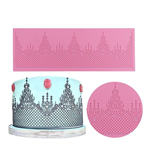 FidgetFidget Cupcake Tiara Mold New 3D Lace Mat Silicone Mold Wedding Cake Decorating Tools by FidgetFidget (Image #2)