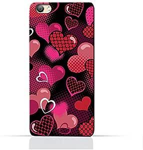 AMC Design Valentine Hearts Seamless Pattern Printed Protective Case for Vivo V5 S - Multi Color
