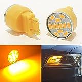 99 silverado turn signal switch - (Set of 2) 3157 (Front Turn Signal Light Bulb) Amber-Yellow LED 19 Chips P27/7W W2.5x16Q WU2.5q T25 3057 3156 3357 4157