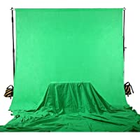 Square Perfect 4037 Professional Quality 10 x 13 Feet Chromakey Green Screen Muslin Backdrop for Photography and Video