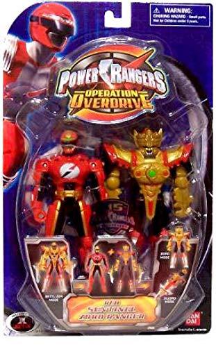 Power Rangers Operation Overdrive 5-Inch Mach Morphin Power Ranger Action Figure- Sentinel Zord Red Ranger