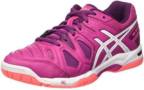 Femme Prune 5 Gel bleu Rosa Blanc De game Tennis Asics Chaussures vwxtnBqFaF