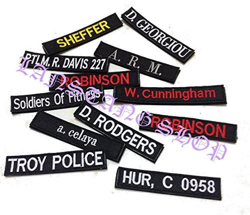 custom name tape with velcro personalized military name tapes 5 inches long food beverages. Black Bedroom Furniture Sets. Home Design Ideas