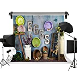 Kate 10x10ft/3x3m(W:3m H:3m) Easter Background Wood Photography Backdrop Easter Eggs Background Real Scene Photo Studio Background