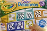 CRAYOLA Games COLOR DOMINOES Game w 28 EXTRA Thick Dominoes (2000 Made in USA)