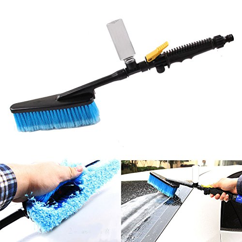 Dual Shower Baster (Car Wash Brush Truck Telescoping Handle Extendable Cleaning Vehicle Tool)