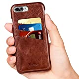 iPhone 7 Plus Case, Benuo [Card Slot Vintage Series] Premium Genuine Leather Card Case [3 Card Slots], Ultra Slim, Soft Leather Case Cover [Business Style] for iPhone7 Plus 5.5 inch (Stylish Brown)