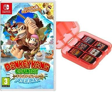 Donkey Kong Country: Tropical Freeze + Funda para almacenamiento ...