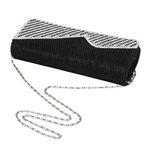 Bag Shiny Women's Polyester Black Clutch Party Novelty Evening Glitter Damara 7qYv4Exwq