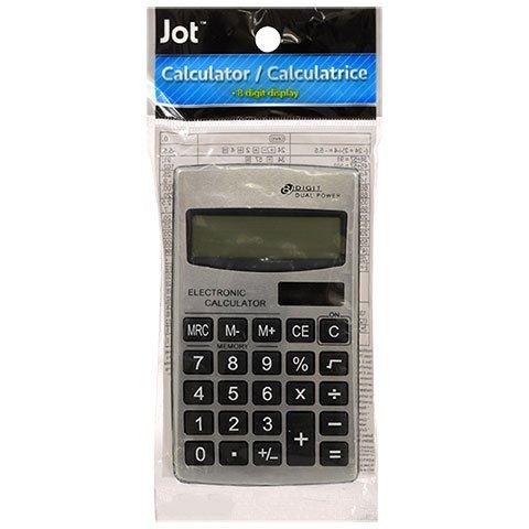 JOT 8-Digit Dual Power Metal Calculators