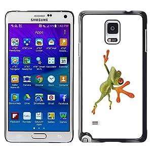 LECELL -- Funda protectora / Cubierta / Piel For Samsung Galaxy Note 4 SM-N910F SM-N910K SM-N910C SM-N910W8 SM-N910U SM-N910 -- Orange Jungle Frog --