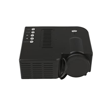 SHUNYUS (UE Plug + Black) Mini Proyector, UC28B Portable Home ...