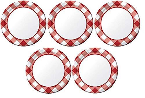 forma única Creative Converdeing 8 platos de de de postre de papel, Gingham Galore 2-(Pack) 5-(Pack)  excelentes precios