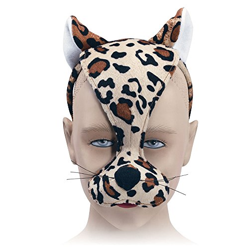 Bristol Novelty EM182 Leopard Mask and Sound on Headband, Unisex-Child, Multi-Colour, One Size ()