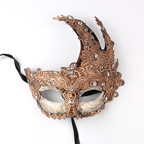 YUFENG Prom Party Venetian Masquerade Masks Costumes Party Accessory (Italian Carnival Mask)